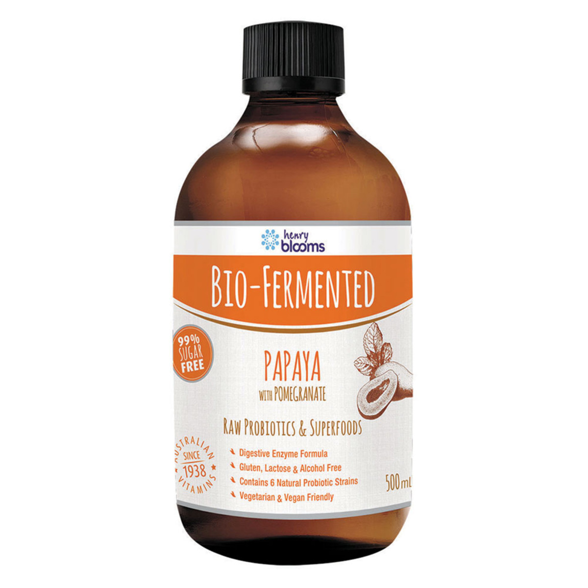 Blooms Bio Fermented Papaya with Pomegranate 500ml_media-01