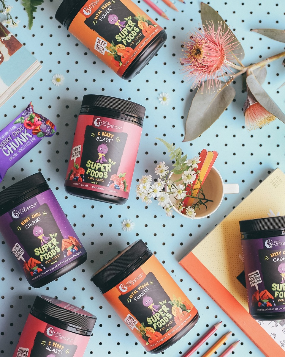 Nutra Org Super Foods for Kidz Berry Choc Chunk 1