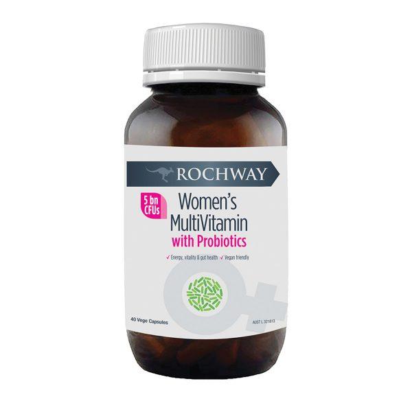 Rochway Women's MutiVitamin with Probiotics 40vc_Media-01