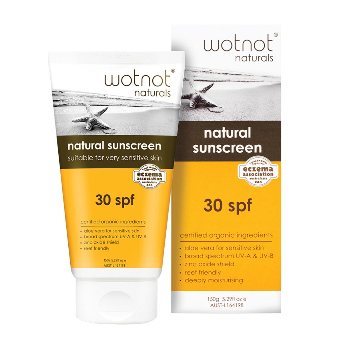 Wotnot Natural Sunscreen 30 SPF 150g_media-01