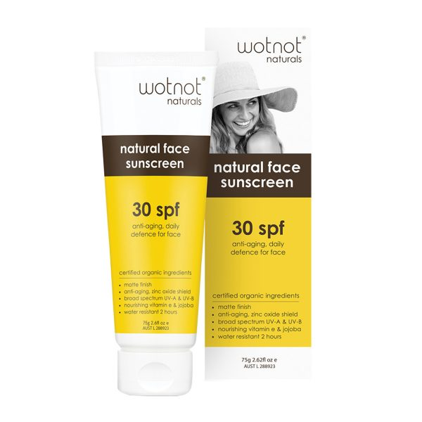 Wotnot Natural Sunscreen Face SPF 30 (Anti Aging Daily Defence) 75g_media-01