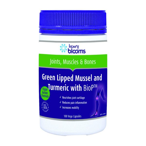 Blooms Green Lipped Mussel 500mg Turmeric with BioP 100vc_media-01
