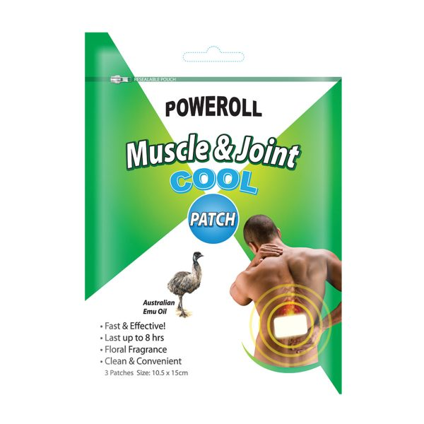 Glimlife Poweroll Muscle and Joint Patch Cool x 3pk_media-01