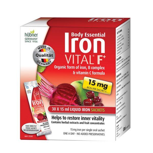 Silicea Body Essentials Iron VITAL F (15mg) Sach 15ml x30Pk_Media-01