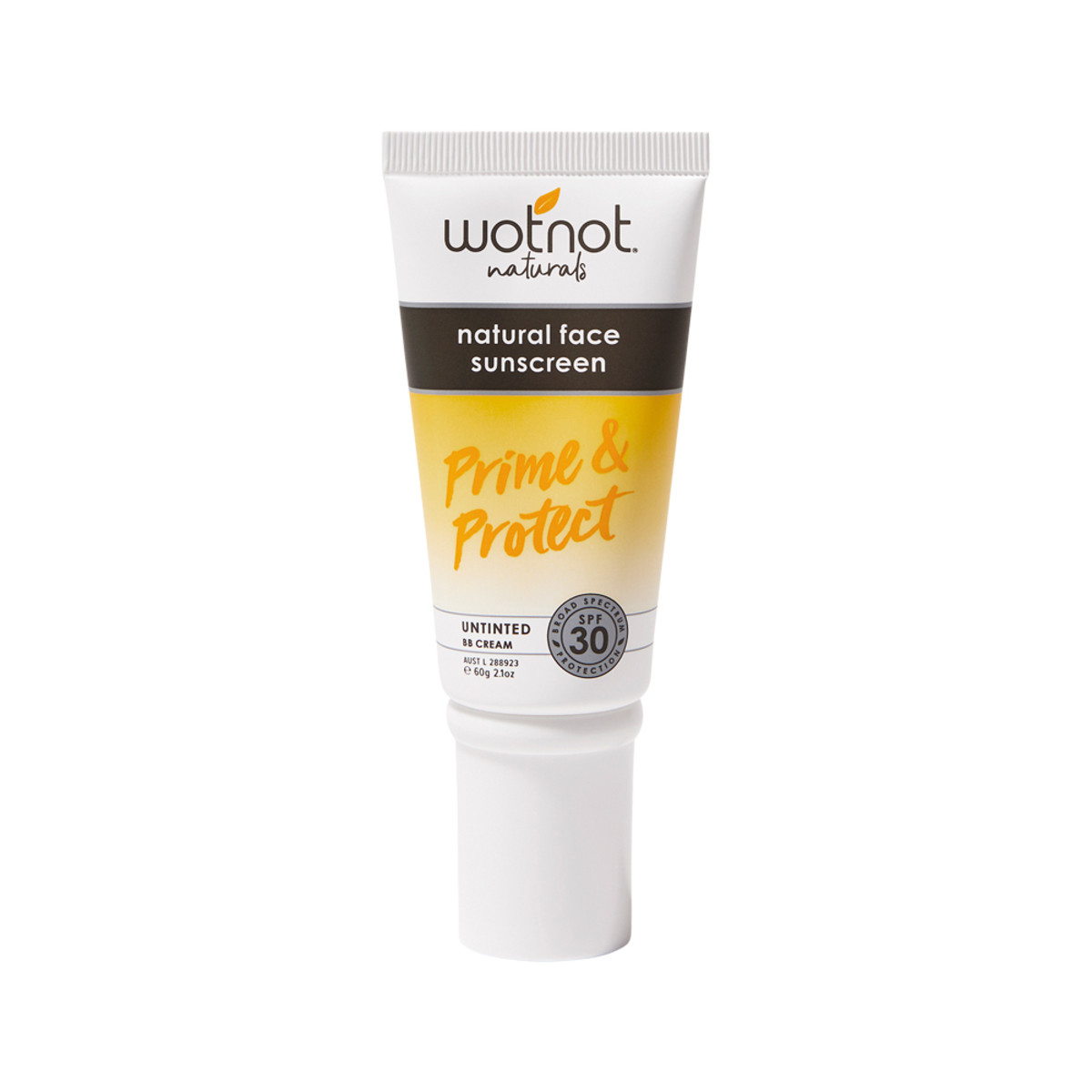 Wotnot Natural Sunscreen Face SPF 30 (Prime and Protect) Untinted BB Cream 60g_media-01