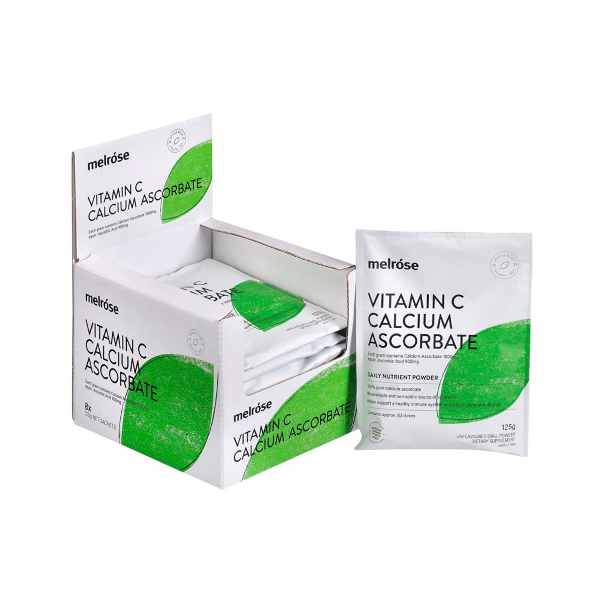 Melrose Vitamin C Calcium Ascorbate 125g x 8 Pack_media-01