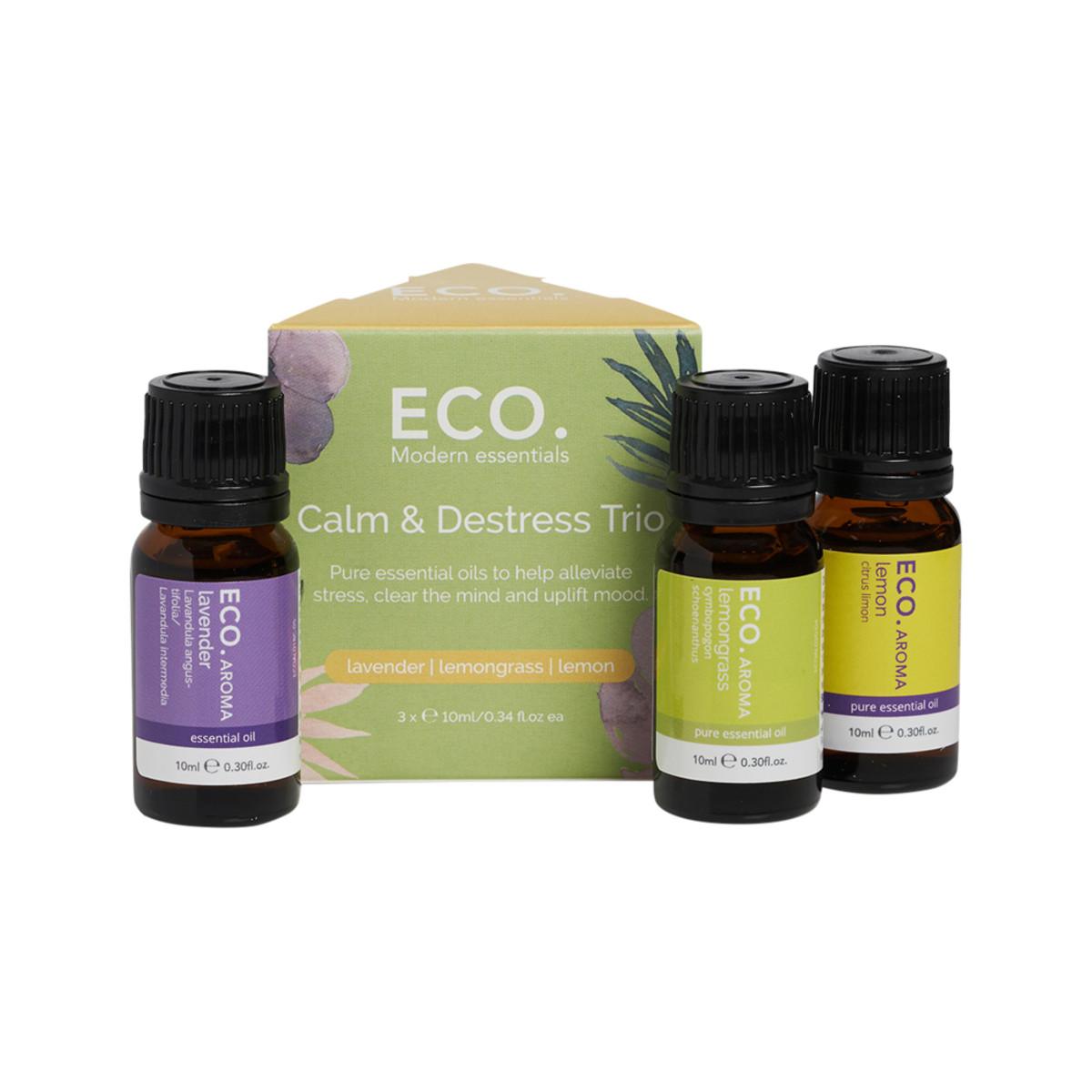 ECO Aroma Essential Oil Trio Calm and Destress 10ml x 3 Pack_media-01