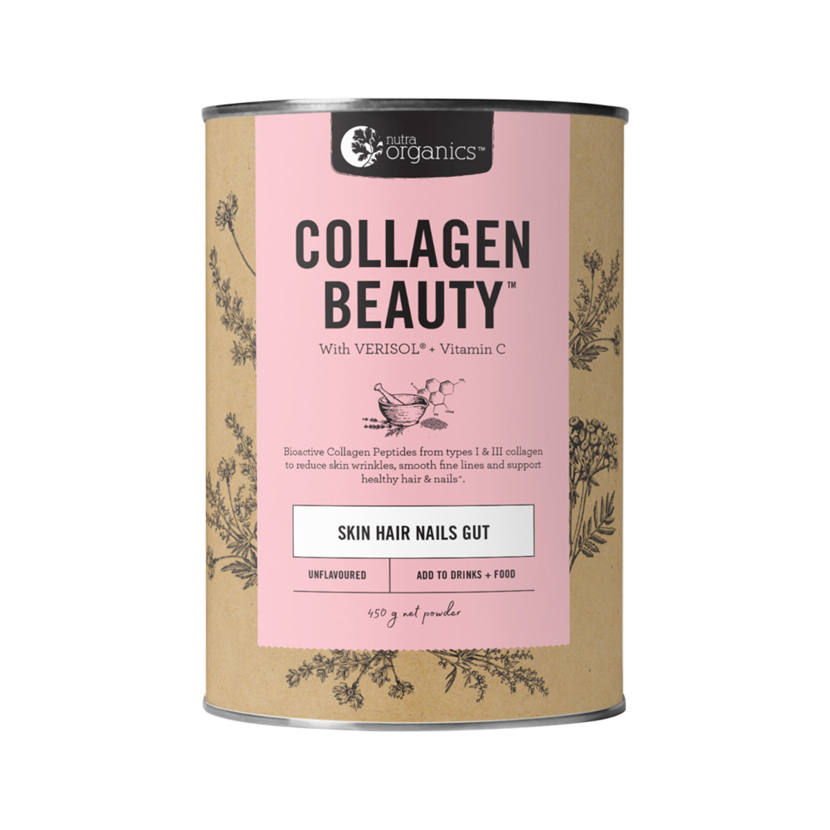 Nutra Org Collagen Beauty Unflavoured 450g_media-01n